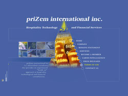 Сайт компании PRIZEM International Inc